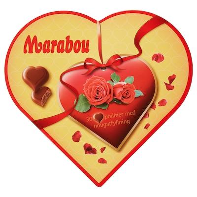 MARABOU Guirlache forma corazón, 165 g