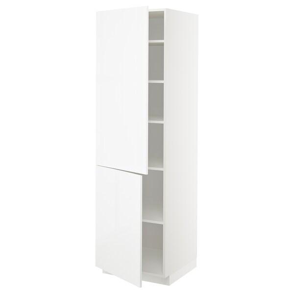 METOD Aa+ bld/2 pt, branco/Ringhult branco, 60x60x200 cm