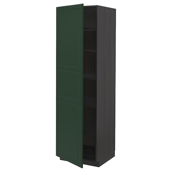METOD Aa+ bld, negro/Bodbyn verde escuro, 60x60x200 cm