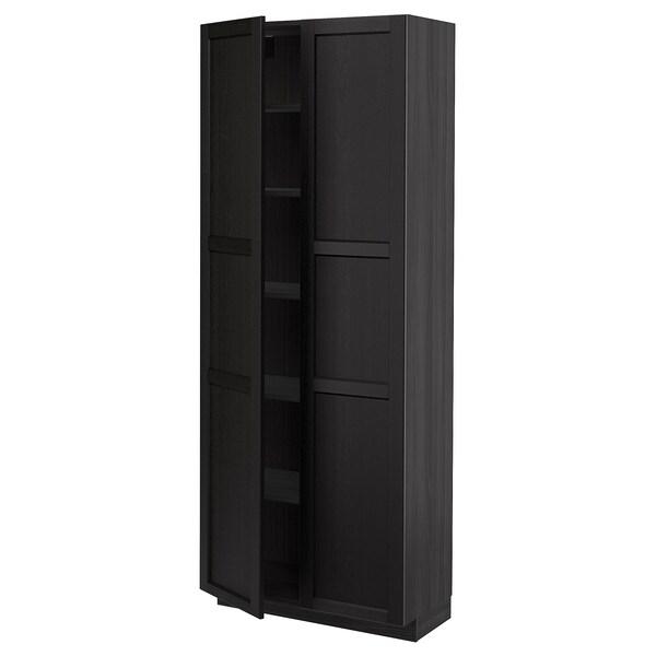 METOD Aa+ bld, negro/Lerhyttan tintura negra, 80x37x200 cm