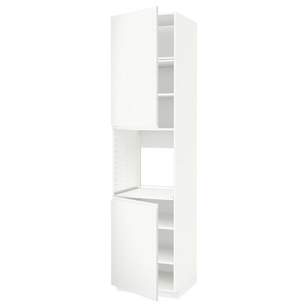 METOD Aahorno+2 pt/ bld, branco/Voxtorp branco mate, 60x60x240 cm