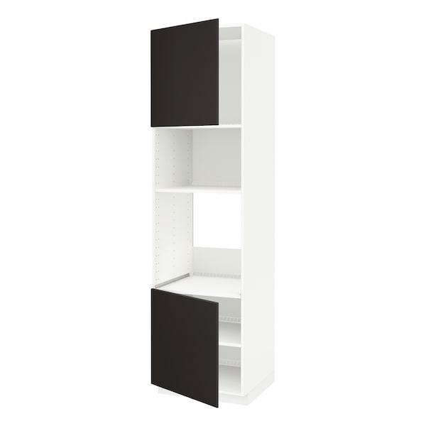 METOD Aahorno/ micro+2 pt/ bld, branco/Kungsbacka antracita, 60x60x220 cm
