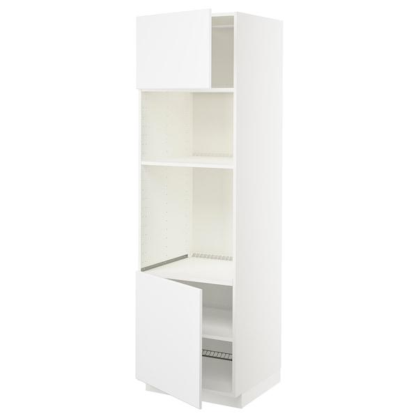 METOD Aahorno/ micro+2 pt/ bld, branco/Kungsbacka branco mate, 60x60x200 cm