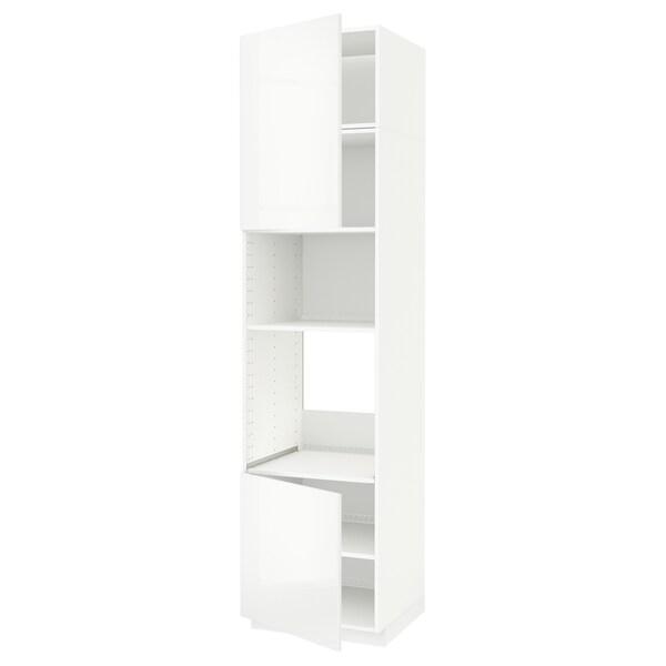 METOD Aahorno/ micro+2 pt/ bld, branco/Ringhult branco, 60x60x240 cm