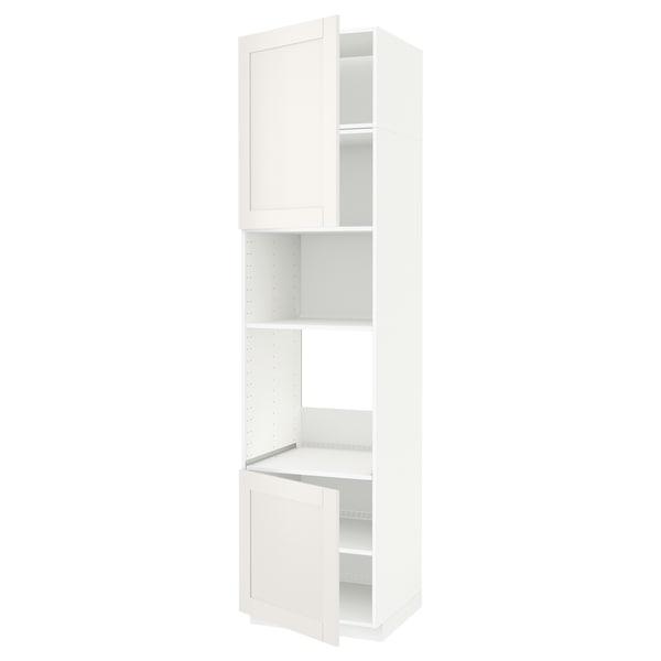 METOD Aahorno/ micro+2 pt/ bld, branco/Sävedal branco, 60x60x240 cm