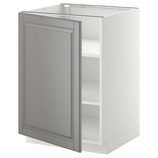 METOD Abj+ bld, branco/Bodbyn gris, 60x60 cm