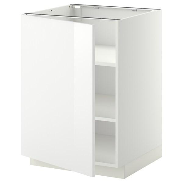 METOD Abj+ bld, branco/Ringhult branco, 60x60 cm