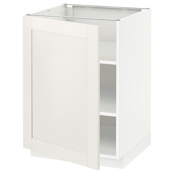METOD Abj+ bld, branco/Sävedal branco, 60x60 cm