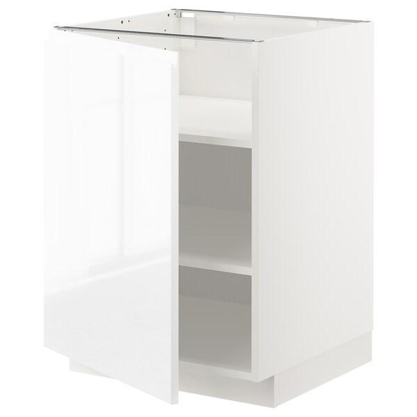 METOD Abj+ bld, branco/Voxtorp alto brillo/branco, 60x60 cm