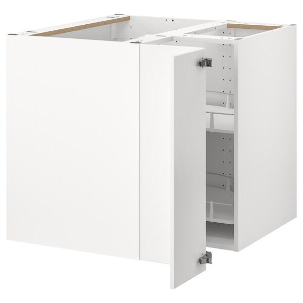METOD Abjesq+ carrusel, branco/Veddinge branco, 88x88 cm