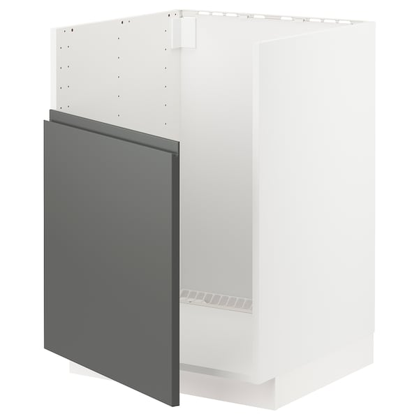 METOD AbjfregBREDSJÖN, branco/Voxtorp gris escuro, 60x60 cm
