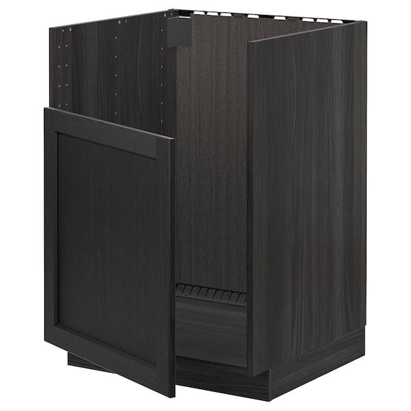 METOD AbjfregBREDSJÖN, negro/Lerhyttan tintura negra, 60x60 cm