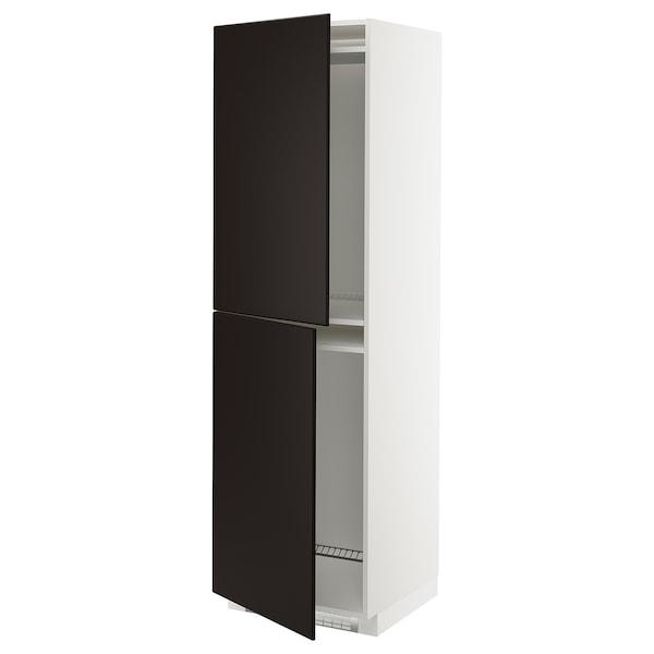 METOD Armario alto frigorífico conxelador, branco/Kungsbacka antracita, 60x60x200 cm