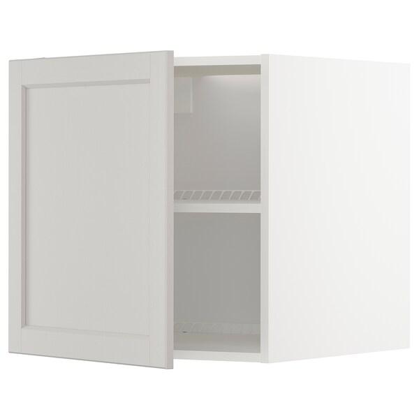 METOD Armario para frigorífico/conxelador, branco/Lerhyttan gris claro, 60x60 cm