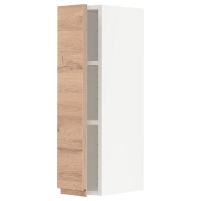 METOD Armario de parede con estantes, branco/Voxtorp efecto carballo, 20x80 cm