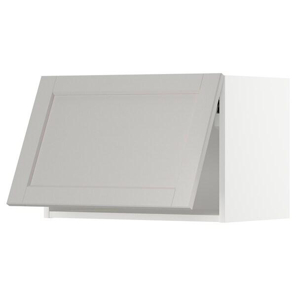 METOD Armario parede horizontal, branco/Lerhyttan gris claro, 60x40 cm