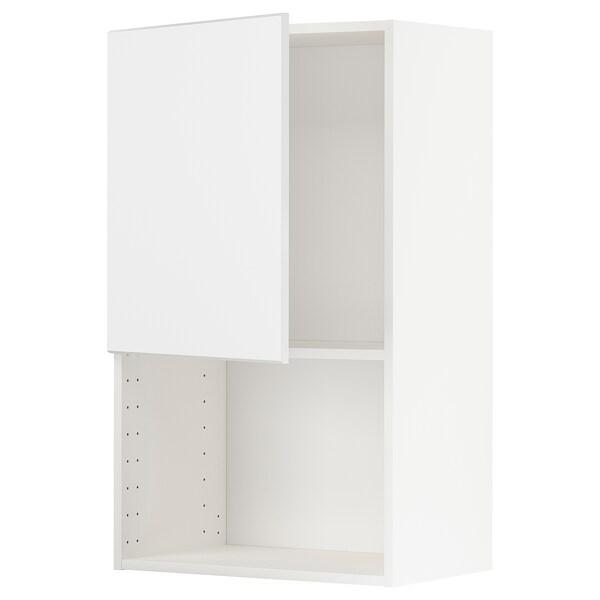 METOD Armario de parede para microondas, branco/Kungsbacka branco mate, 60x100 cm