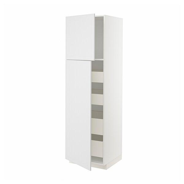 METOD / MAXIMERA Aa2 pt4 cj, branco/Stensund branco, 60x60x200 cm