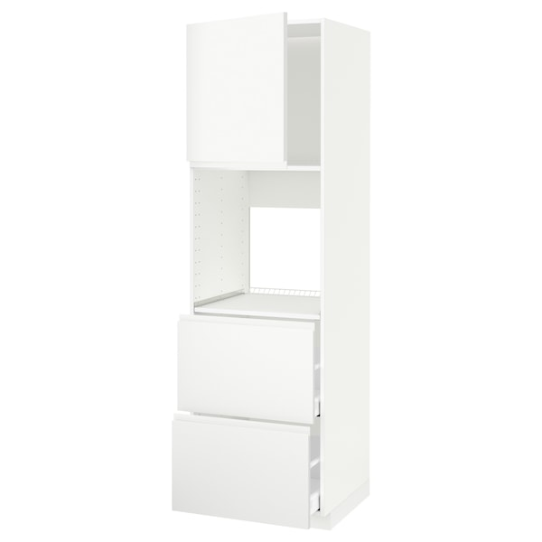METOD / MAXIMERA Aahorno+ pt/2 frt2 cj, branco/Voxtorp branco mate, 60x60x200 cm