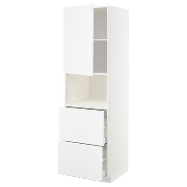 METOD / MAXIMERA Aamicro+ pt/2 cj, branco/Kungsbacka branco mate, 60x60x200 cm