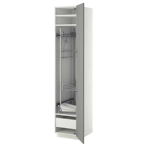 METOD / MAXIMERA Aaprodlimpieza, branco/Bodbyn gris, 40x60x200 cm