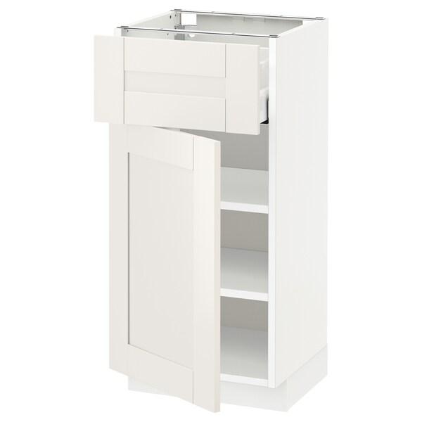 METOD / MAXIMERA Abj+ cj/ pt, branco/Sävedal branco, 40x37 cm
