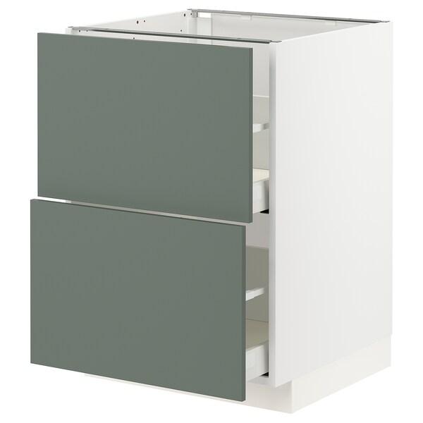 METOD / MAXIMERA Armario baixo cociña 2 caixóns