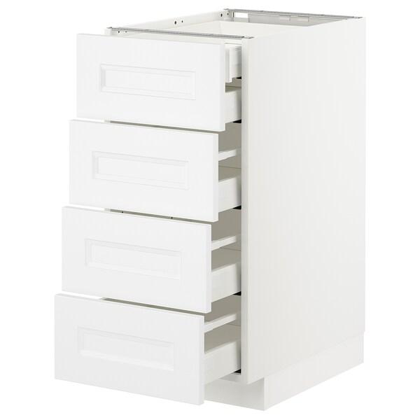 METOD / MAXIMERA Armario baixo cociña 5 caixóns, branco/Axstad branco mate, 40x60 cm