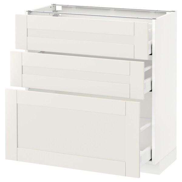METOD / MAXIMERA Armario baixo cociña con 3 caixóns