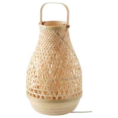 MISTERHULT Lámpada de mesa, bambú/á man, 36 cm