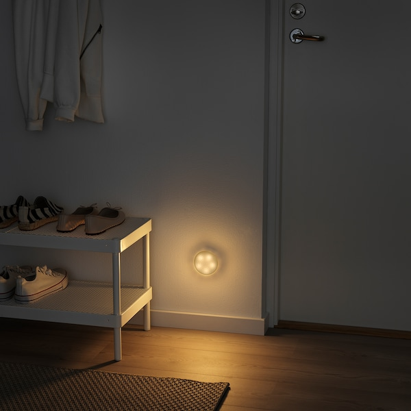 MOLGAN Ilum LED, branco/a pilas