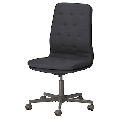 MULLFJÄLLET Cadeira reunión+rodas, Naggen gris escuro