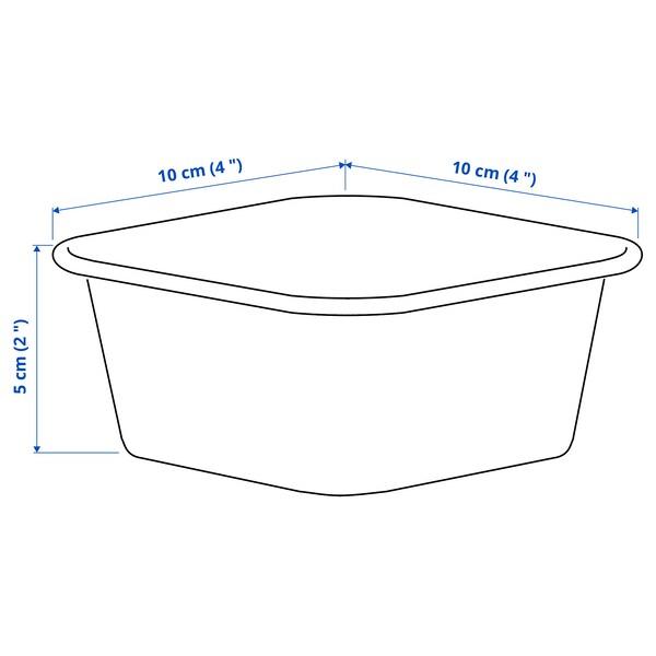 NOJIG Organizador, plástico/beixe, 10x10x5 cm