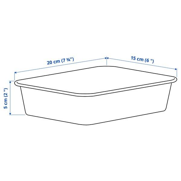 NOJIG Organizador, plástico/beixe, 15x20x5 cm