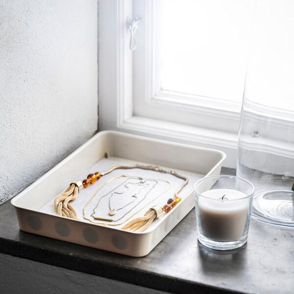 NOJIG Organizador, plástico/beixe, 25x35x5 cm