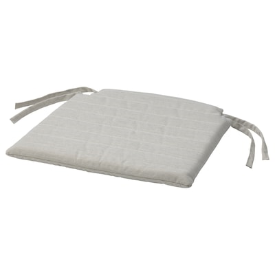 NORDVIKEN Coxín para cadeira, beixe, 44/40x43x4 cm