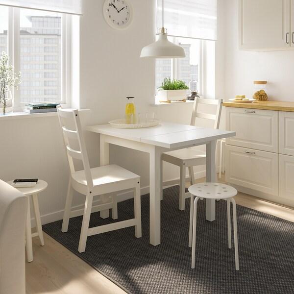NORDVIKEN / NORDVIKEN Mesa e dúas cadeiras, branco/branco, 74/104x74 cm