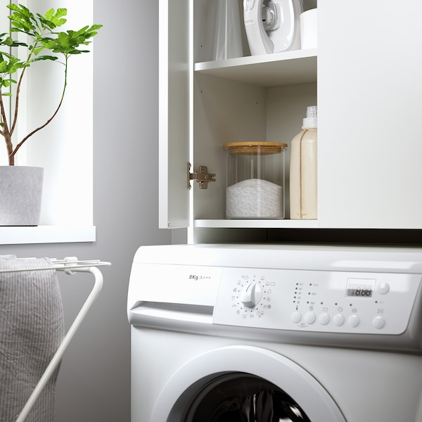 NYSJÖN Armario para lavadora, branco, 65x190 cm