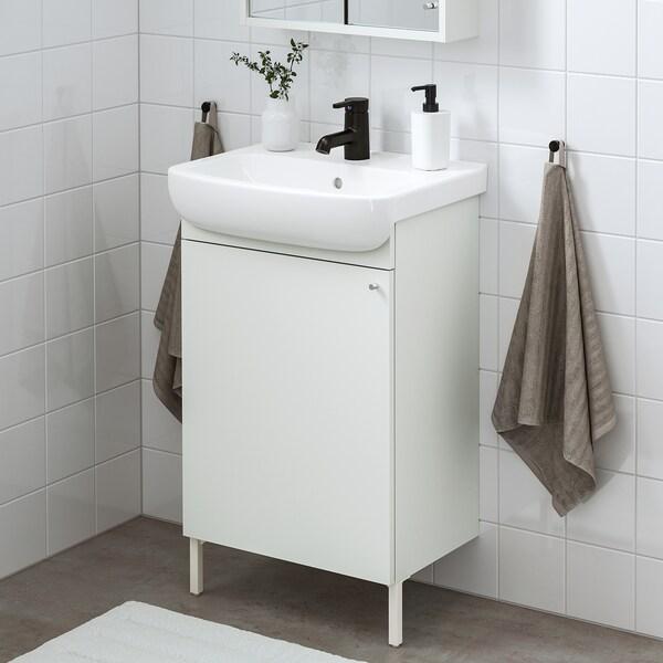 NYSJÖN / BJÖRKÅN Armario lavabo+1prta, branco/billa SALJEN, 54x98 cm
