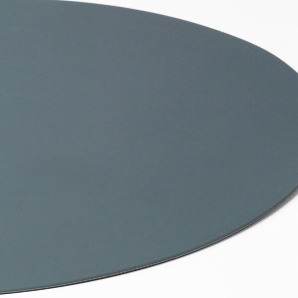 OMTÄNKSAM Mantel individual antiescorregante, azul agrisado, 45x35 cm