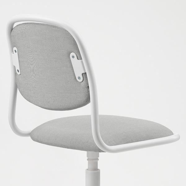 ÖRFJÄLL Cadeira escritorio neno, branco/Vissle gris claro