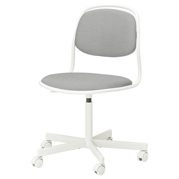 ÖRFJÄLL Cadeira xiratoria, branco/Vissle gris claro