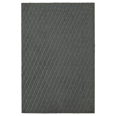 ÖSTERILD Felpudo, interior, gris escuro, 60x90 cm