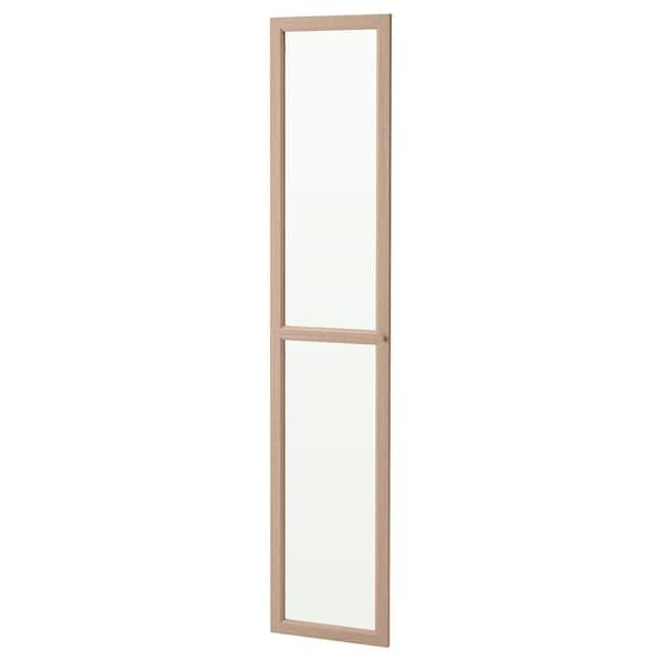 OXBERG Porta de vidro, chapa carballo tintura branca, 40x192 cm