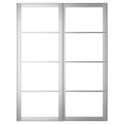 PAX 2 estruturas para portas corrediza, aluminio, 150x236 cm