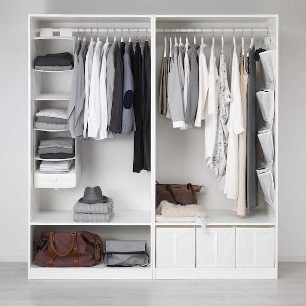 PAX Armario, branco/Hasvik branco, 200x66x201 cm