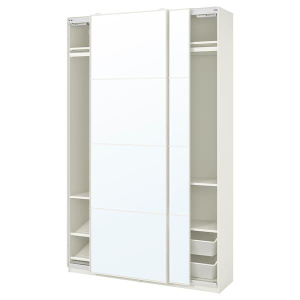 PAX / AULI Combinación armario, branco/espello, 150x44x236 cm