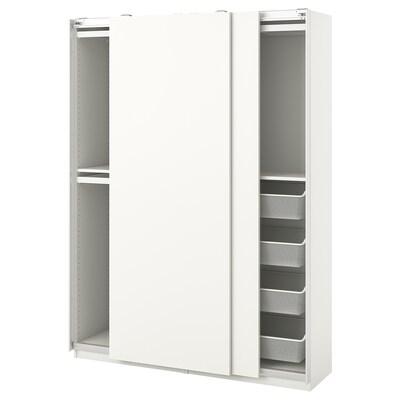 PAX / HASVIK Combinación armario, branco, 150x44x201 cm