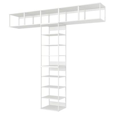 PLATSA Estante, branco, 300x42x281 cm