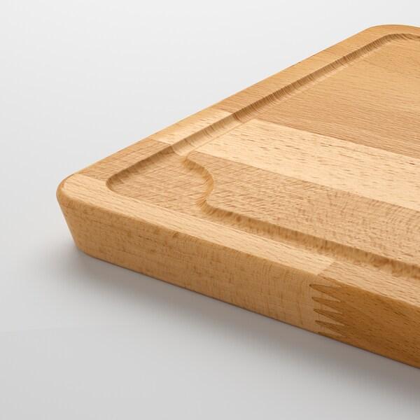 PROPPMÄTT Táboa de cortar, faia, 38x27 cm